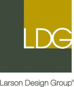 Larson Design Group - Vertical-Logo 2 color hi res